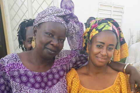 Aissatou  Dione y Georgette Rebeiz